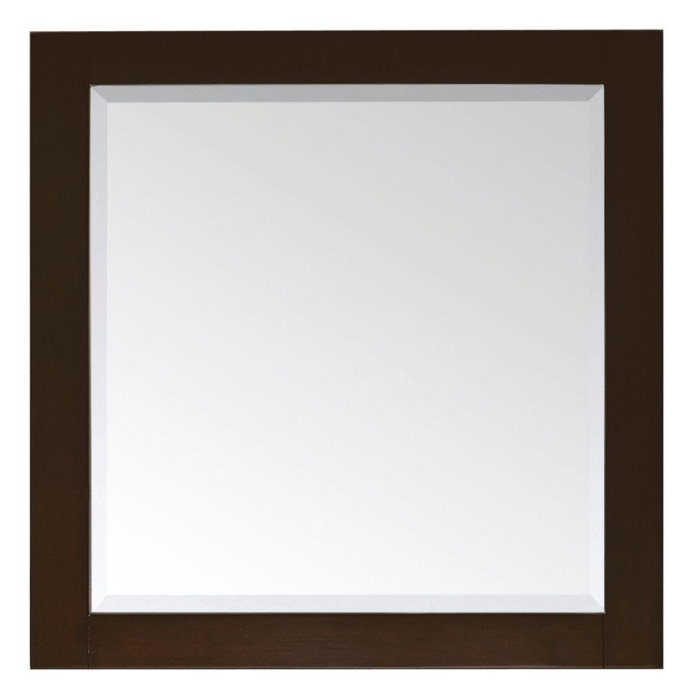Lexington 36 Inch Mirror in Light Espresso Finish