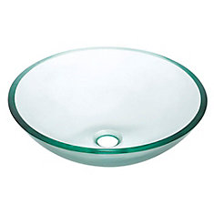 avanity vasque en verre tremp transparent home depot canada. Black Bedroom Furniture Sets. Home Design Ideas