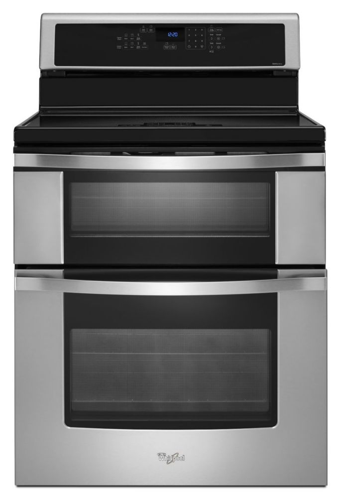 6.7 cu. ft. Double Oven Electric Range with Induction Cooktop in Stainless Steel