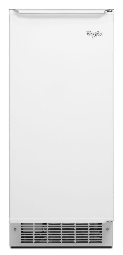 15-inch 50 lb. Freestanding or Built-In Icemaker in White