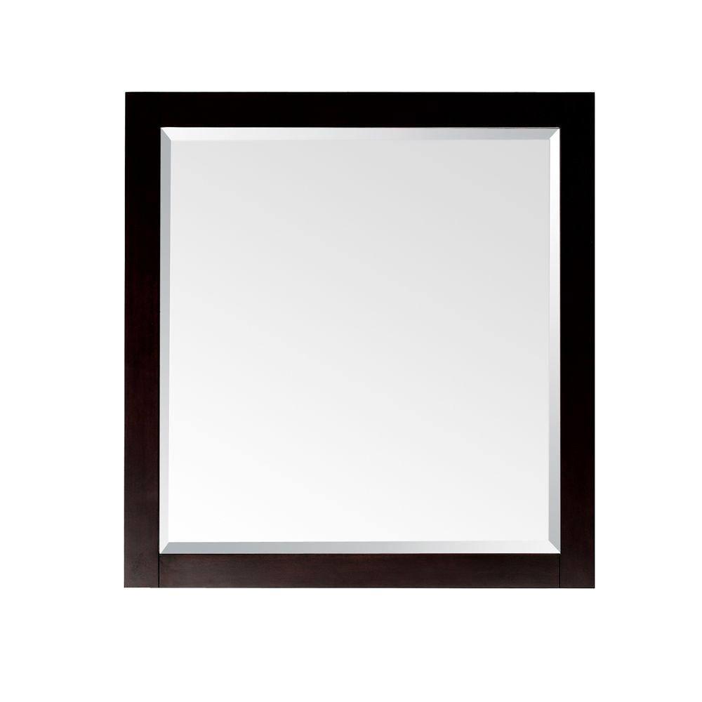 Lexington 28 Inch Mirror in Light Espresso Finish