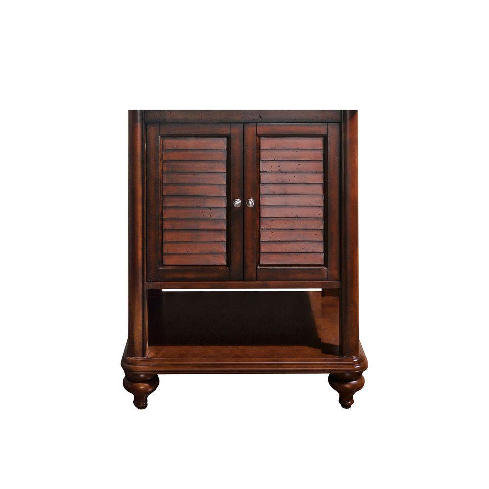 Brown Vanity Cabinet : Avanity tropica inch vanity cabinet in antique brown