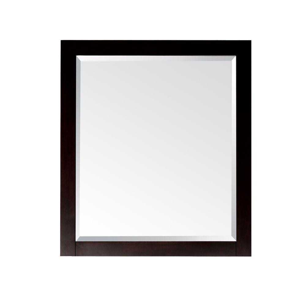 Miroir Lexington de 24po au fini espresso clair