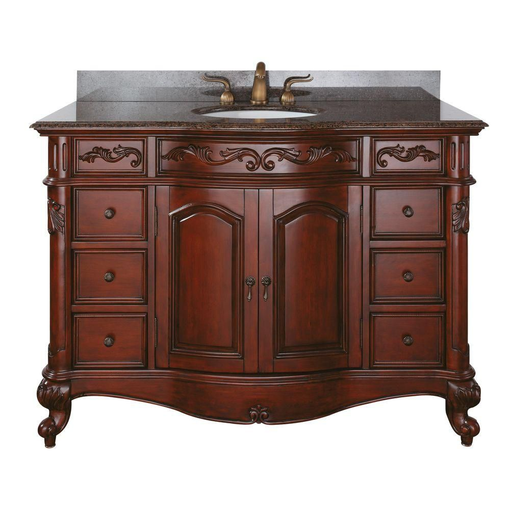 Avanity provence 48 inch vanity with imperial brown 48 inch bathroom vanity