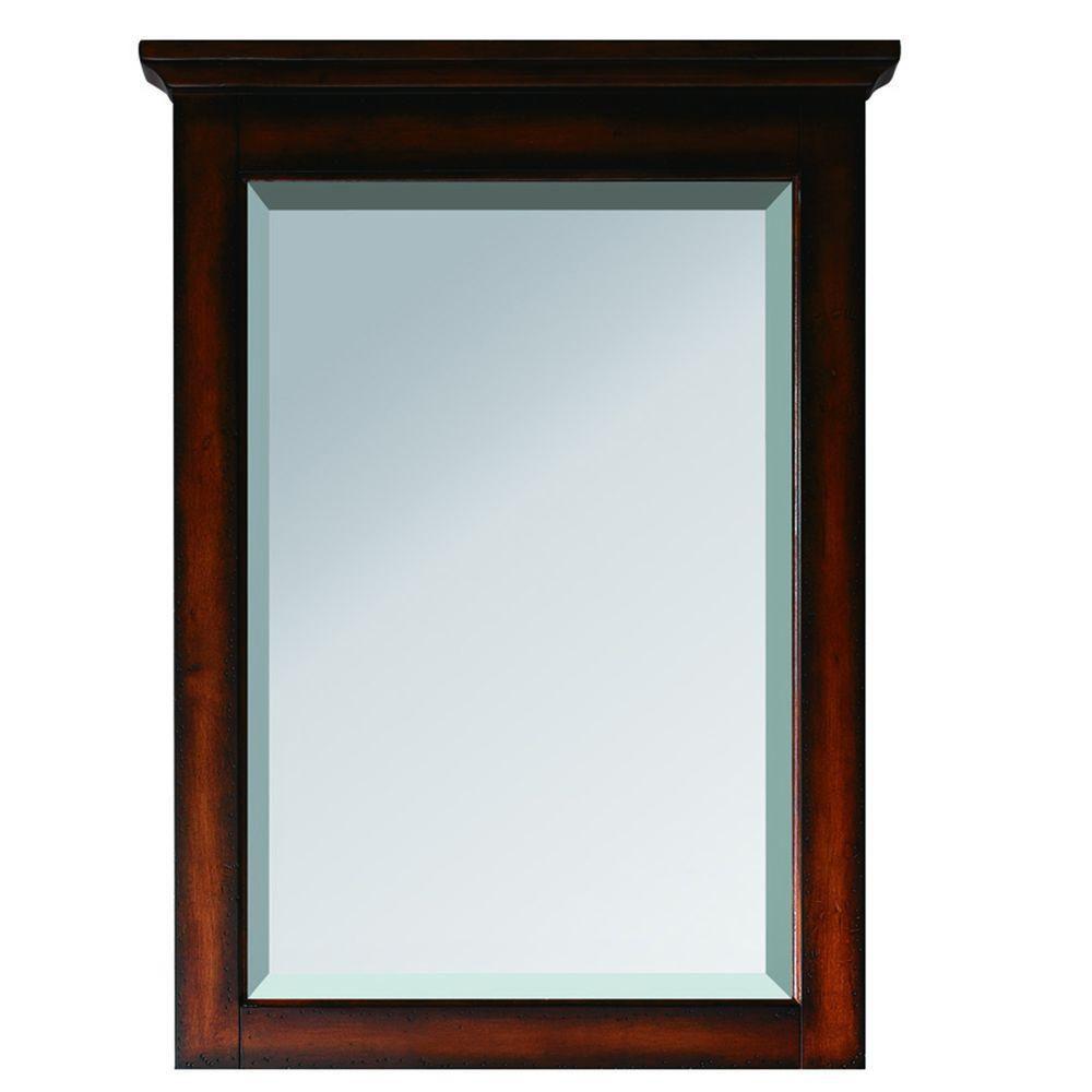 Miroir Tropica de 24po au fini brun antique
