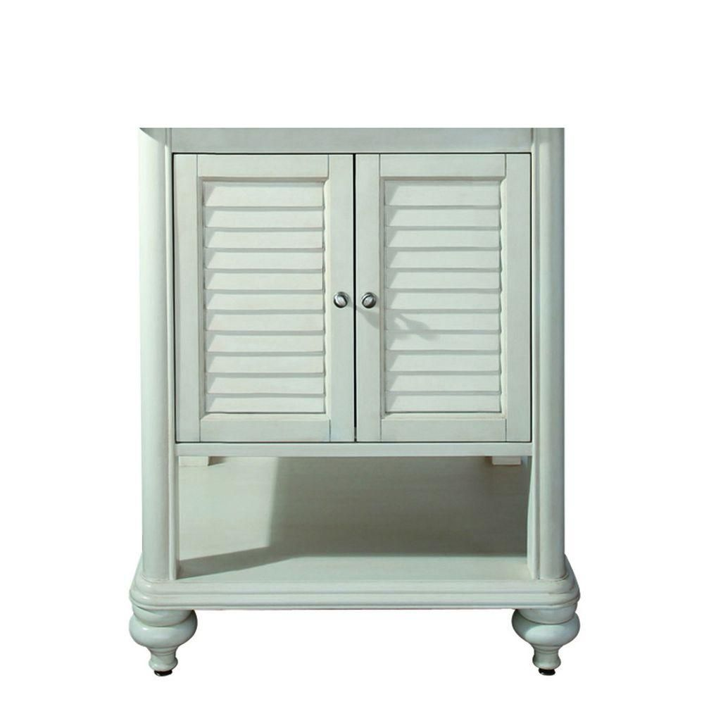 Tropica 24-Inch  Vanity Cabinet in Antique White