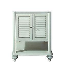 Avanity Meuble-lavabo Tropica de 24 po au fini blanc antique (Robinet non inclus)