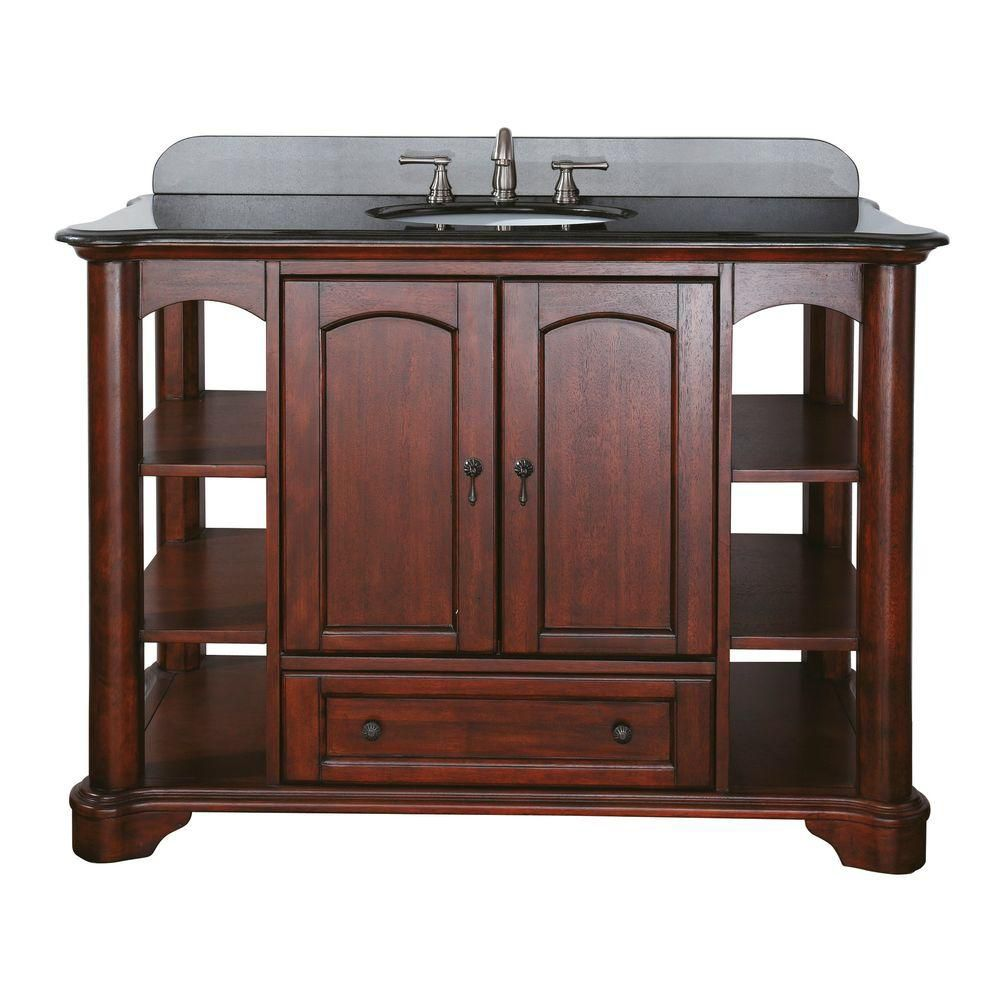 Vermont 48 Inch Vanity in Mahogany Finish (Faucet not included) VERMONT-V48-MA in Canada