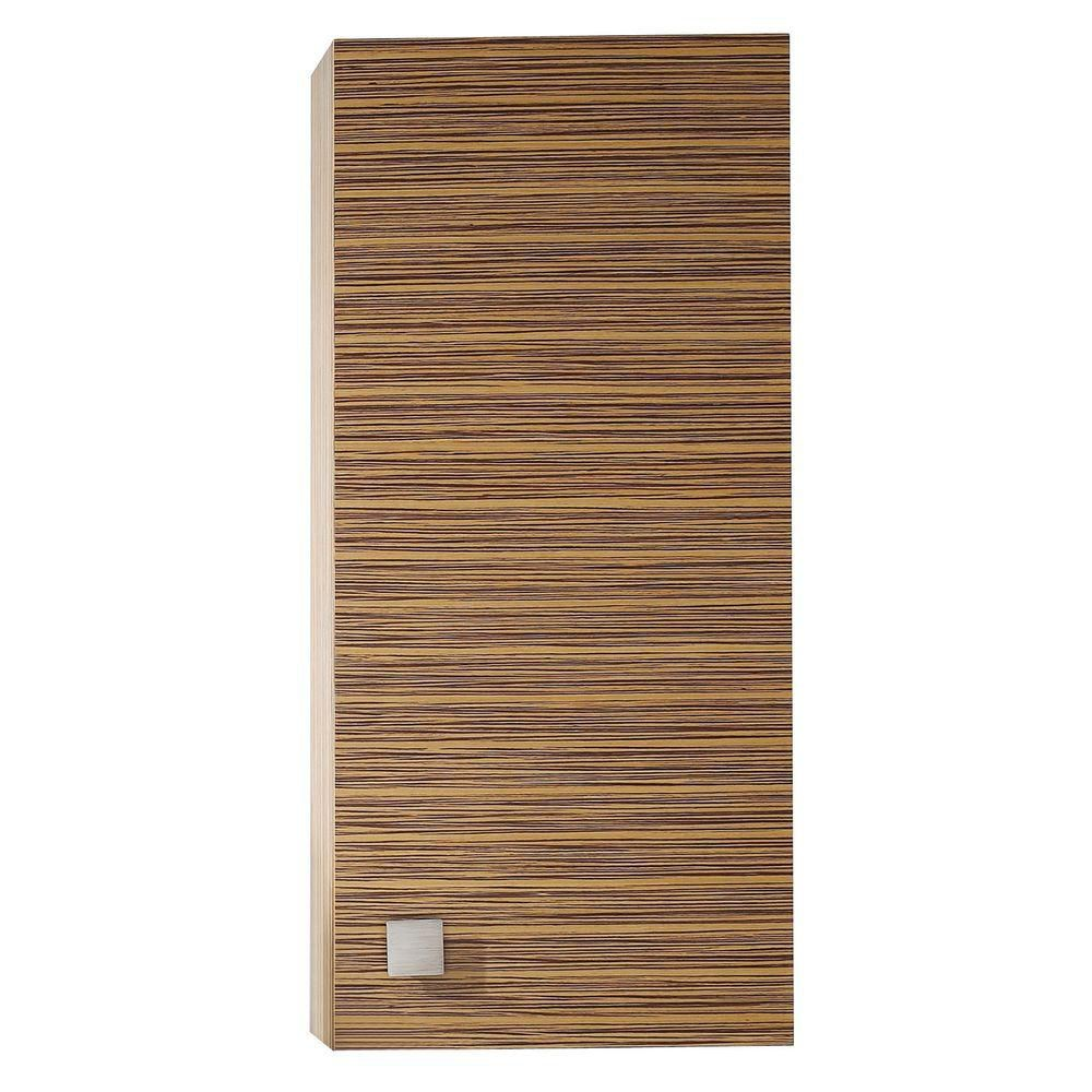 Knox 18 Inch Wall Cabinet in Zebra Wood Finish