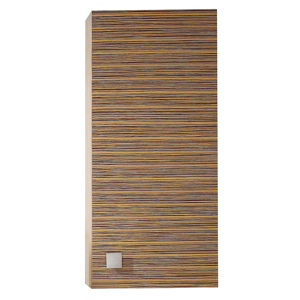 Tremendous Knox 18 Inch Wall Cabinet In Zebra Wood Finish Beutiful Home Inspiration Semekurdistantinfo