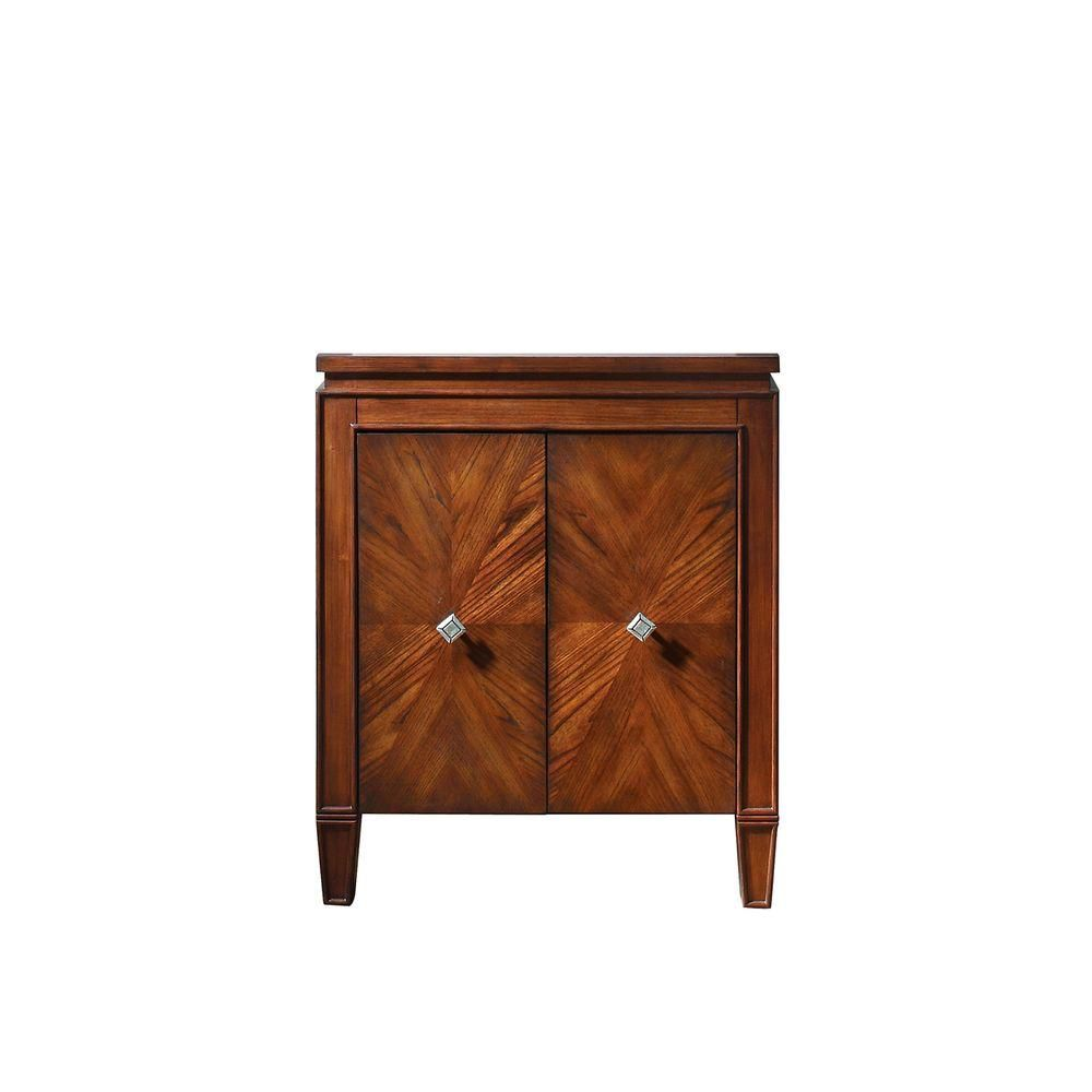Brentwood 25-Inch  Vanity Cabinet in New Walnut