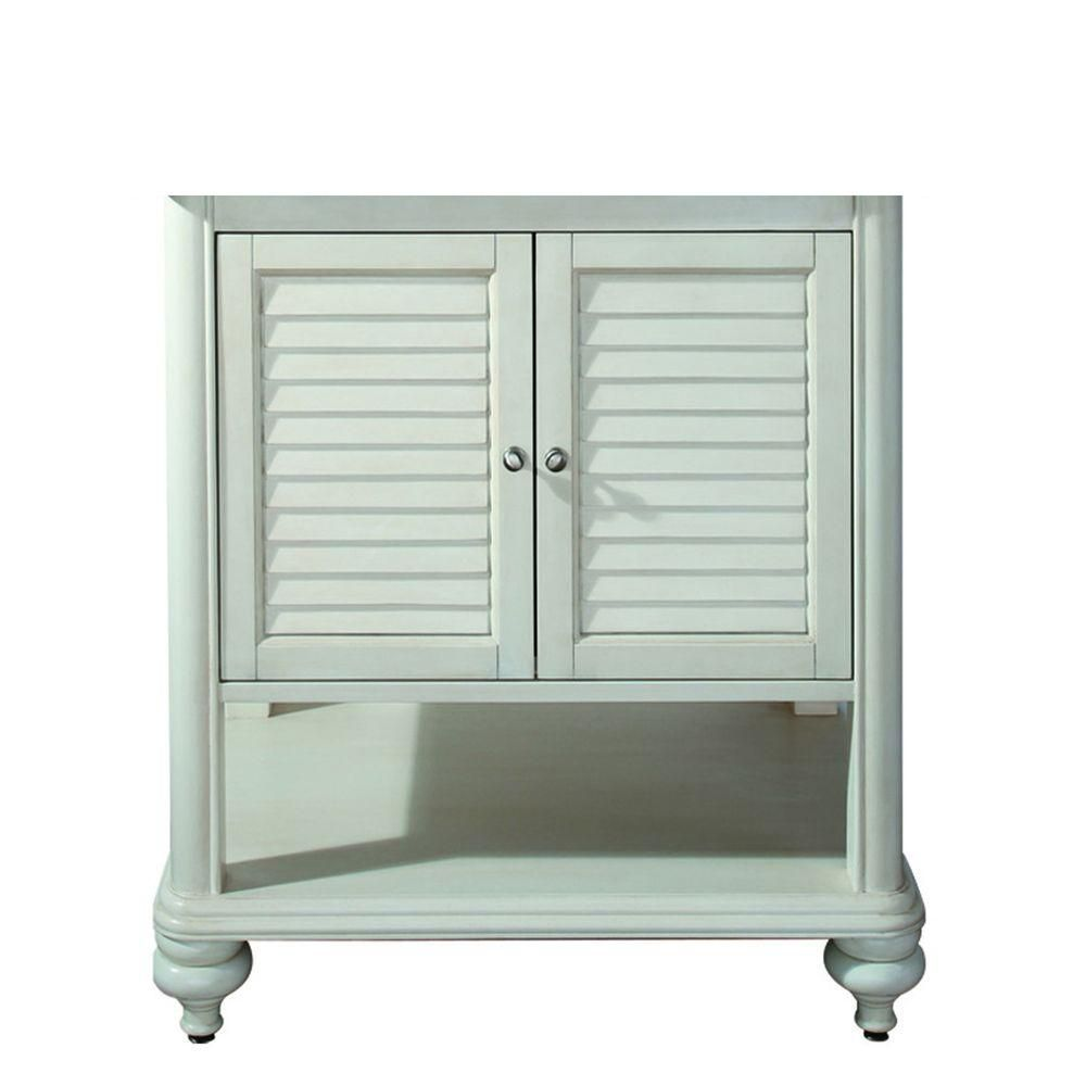 Avanity Tropica 30 Inch Vanity Cabinet In Antique White The Home Depot Canada