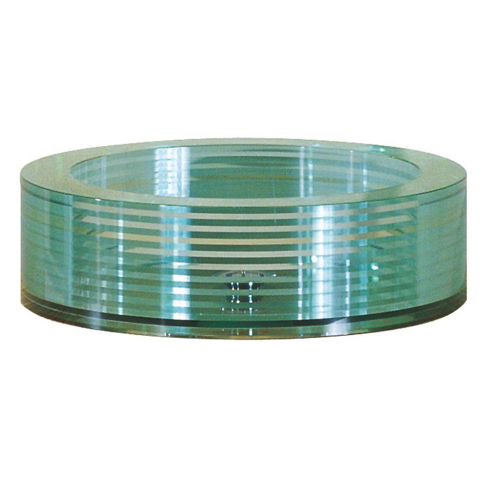 Round Tempered Segmented Glass Vessel