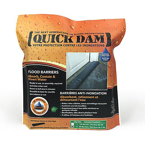 5 Ft. Flood Barriers Sandless Sandbags (2-Pack)