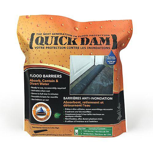 Quick Dam 5 Ft. Flood Barriers Sandless Sandbags (2-Pack)