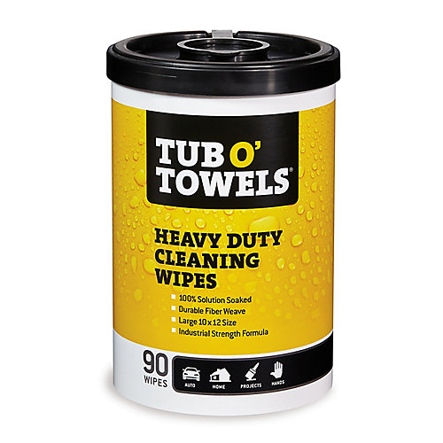 Lingettes de nettoyage tout-usage pour nettoyage industriel, 90/boîte
