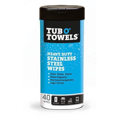 Lingettes de nettoyage pour acier inoxydable, 40/boîte