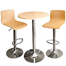 MELROSE Bar and Table 3-Piece Set