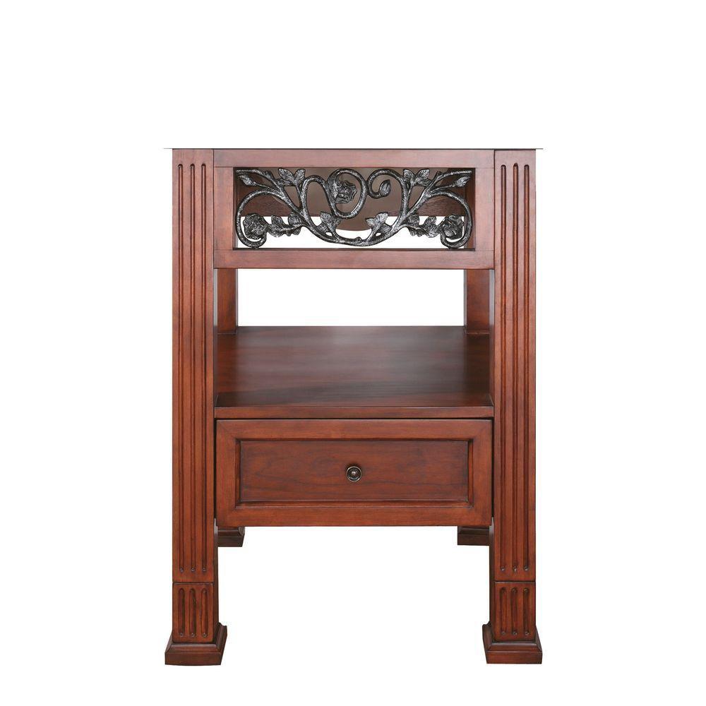 Napa 24-Inch  Vanity Cabinet in Dark Cherry