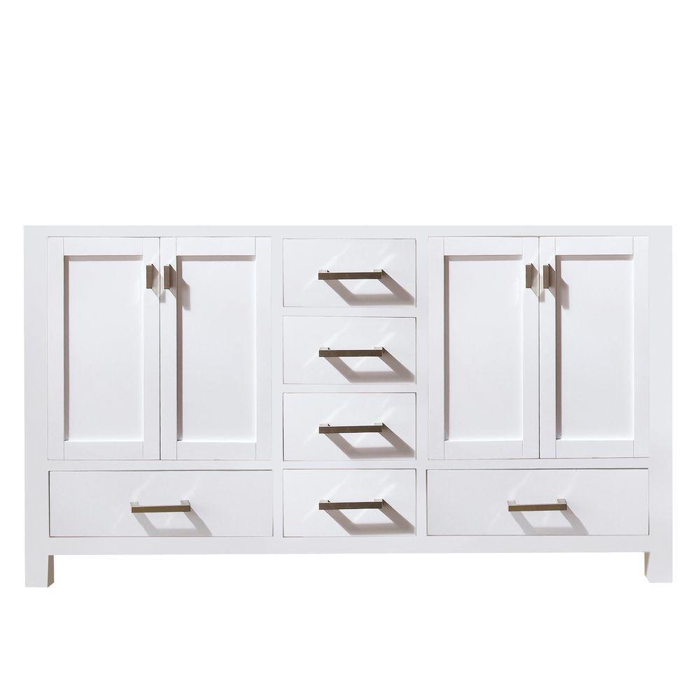 Meuble-lavabo double Modero de 60 po blanc (Robinet non inclus)
