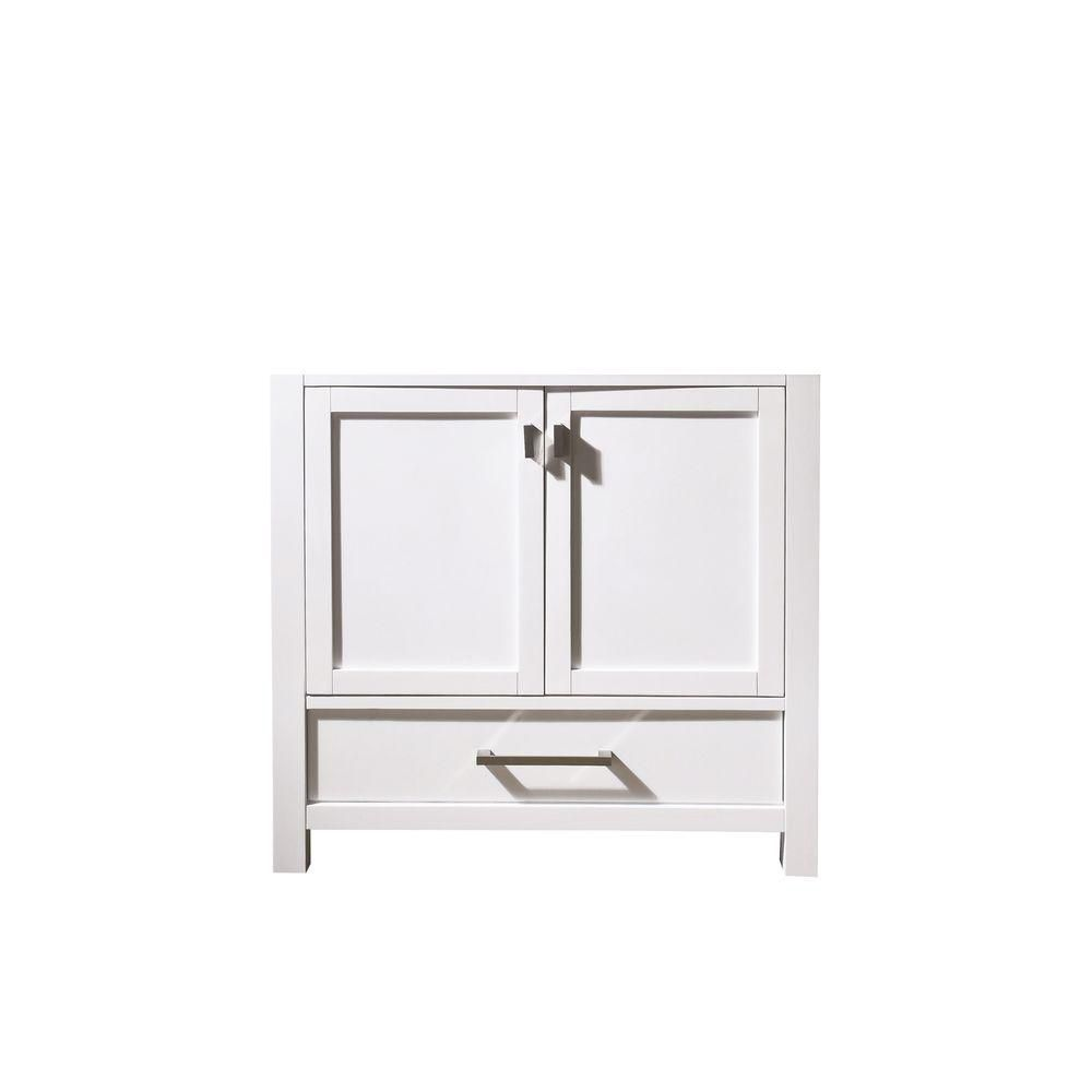 Avanity modero 36 inch vanity cabinet in white the home for Bathroom cabinets 36 inch