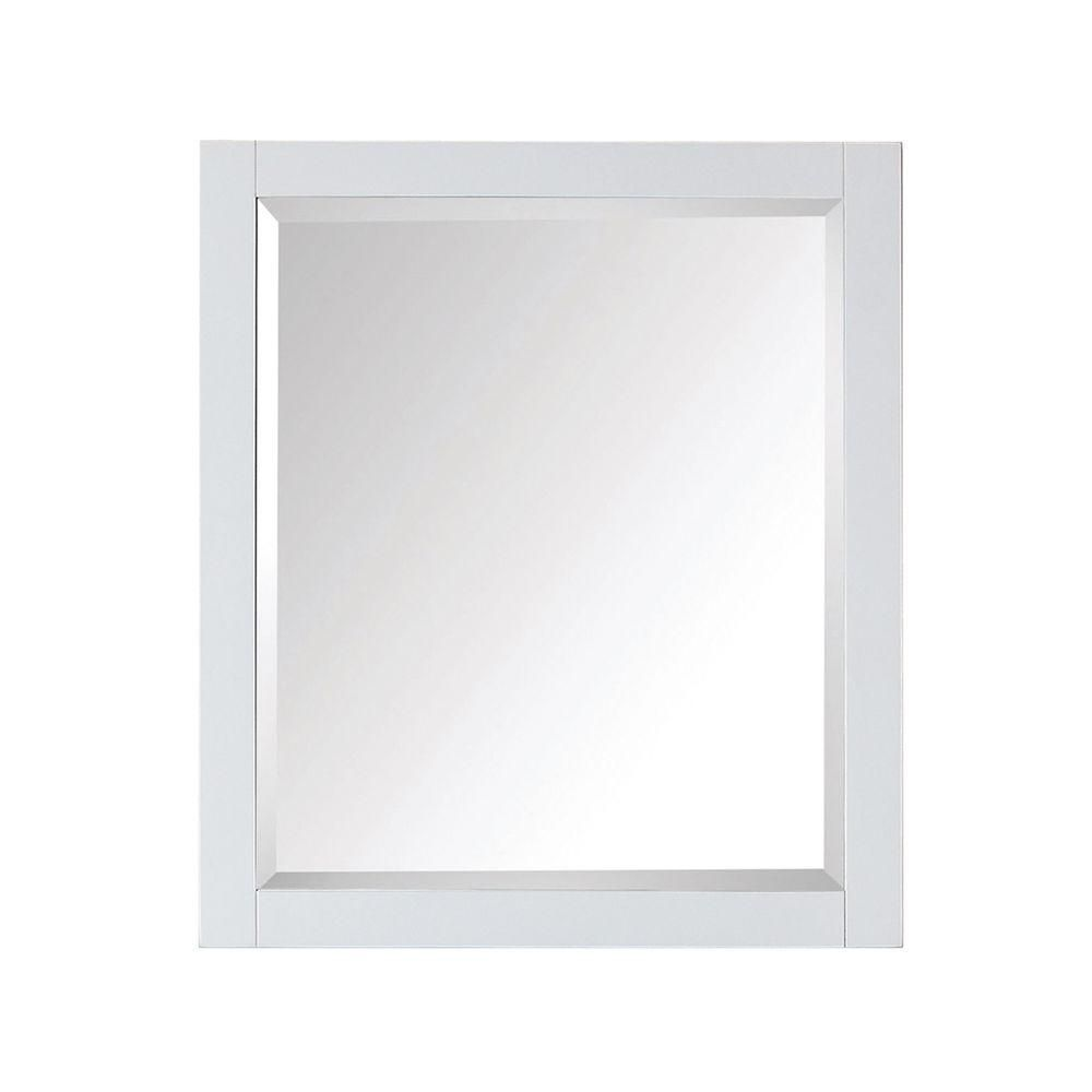 Avanity miroir modero de 28 x 32 po blanc home depot canada for Miroir in english