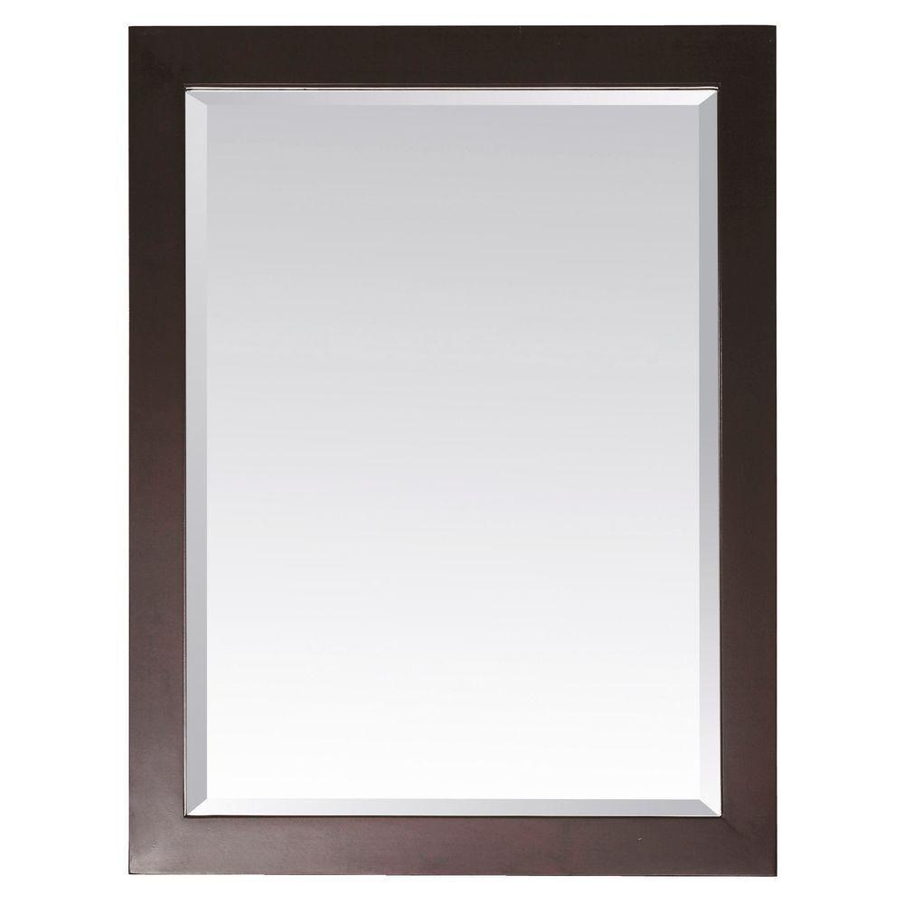 Miroir Modero de 28 x 32po au fini espresso