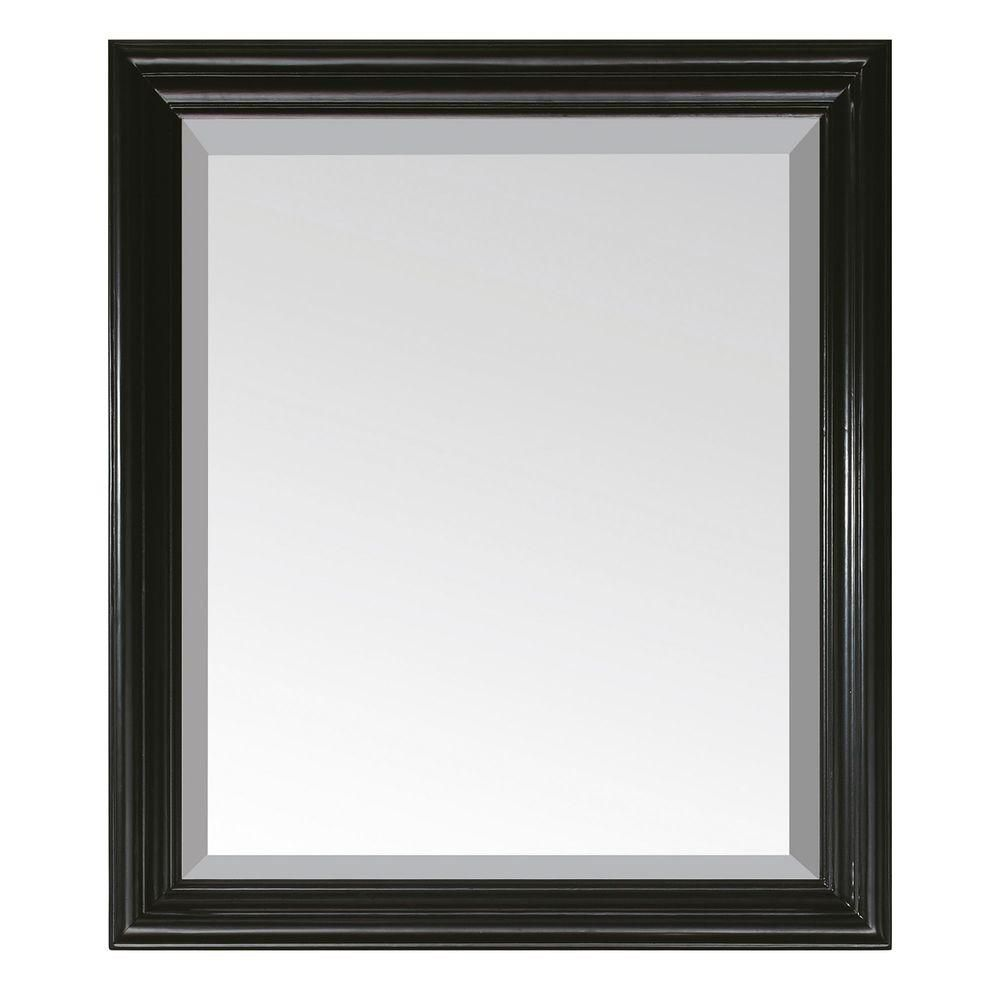 Milano 30 Inch Mirror in Black Finish