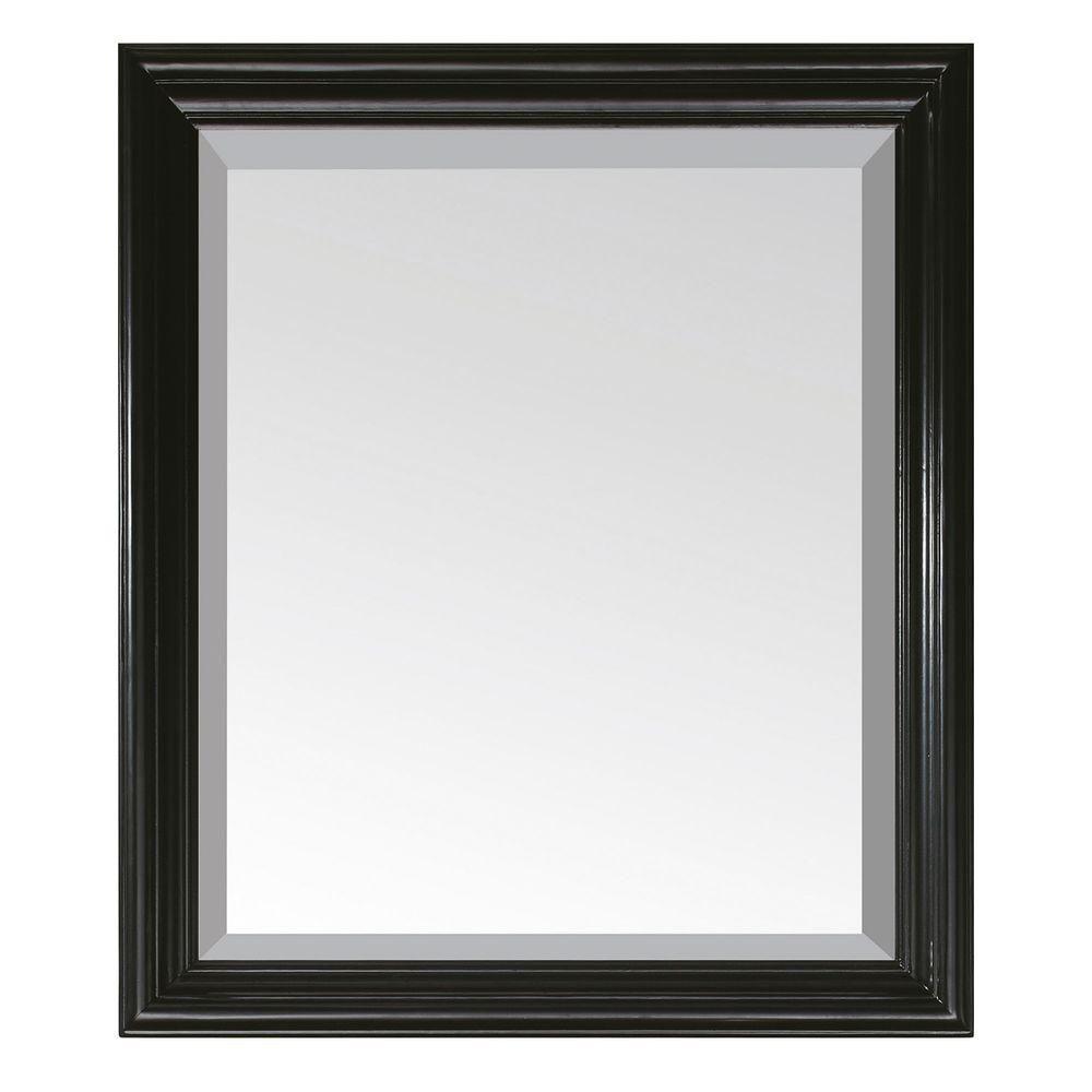 Miroir Milano de 30po noir