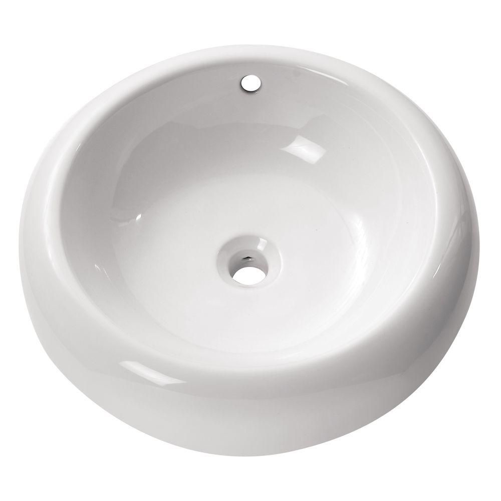 19 Round Bathroom Sink: Avanity 19 3/4-inch Round Vitreous China Vessel Sink In