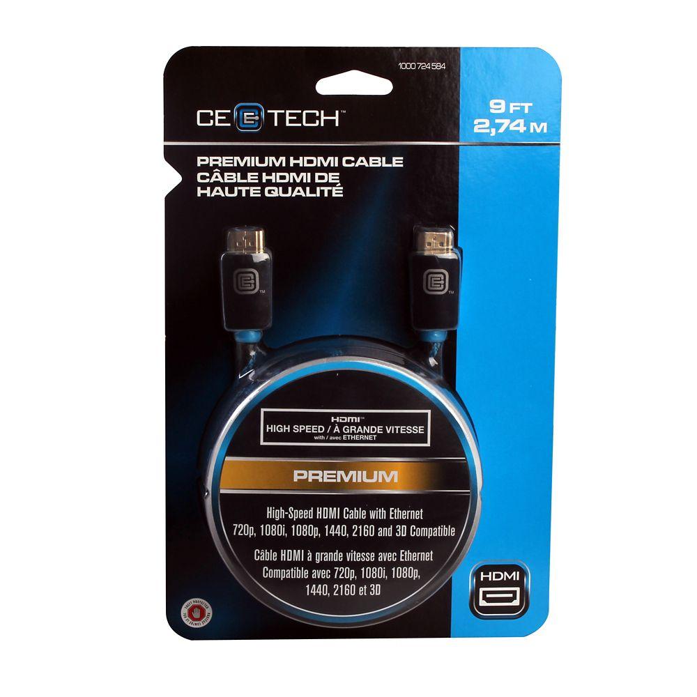 2,74 m câble HDMI de haute qualité