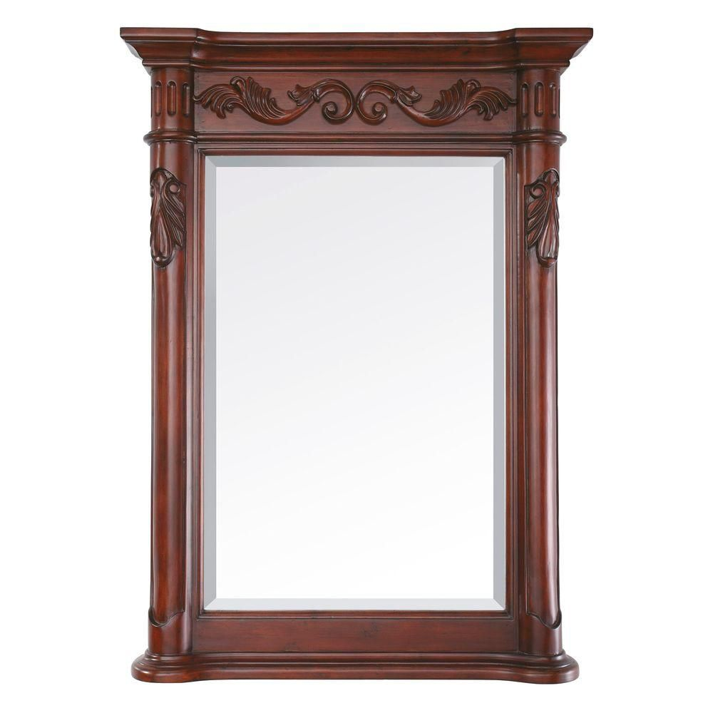 Avanity Provence 24-inch x 33-inch Beveled Mirror in Antique Cherry
