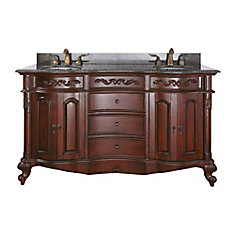60 inch double sink vanity. provence 60-inch w double sink vanity in antique 60 inch