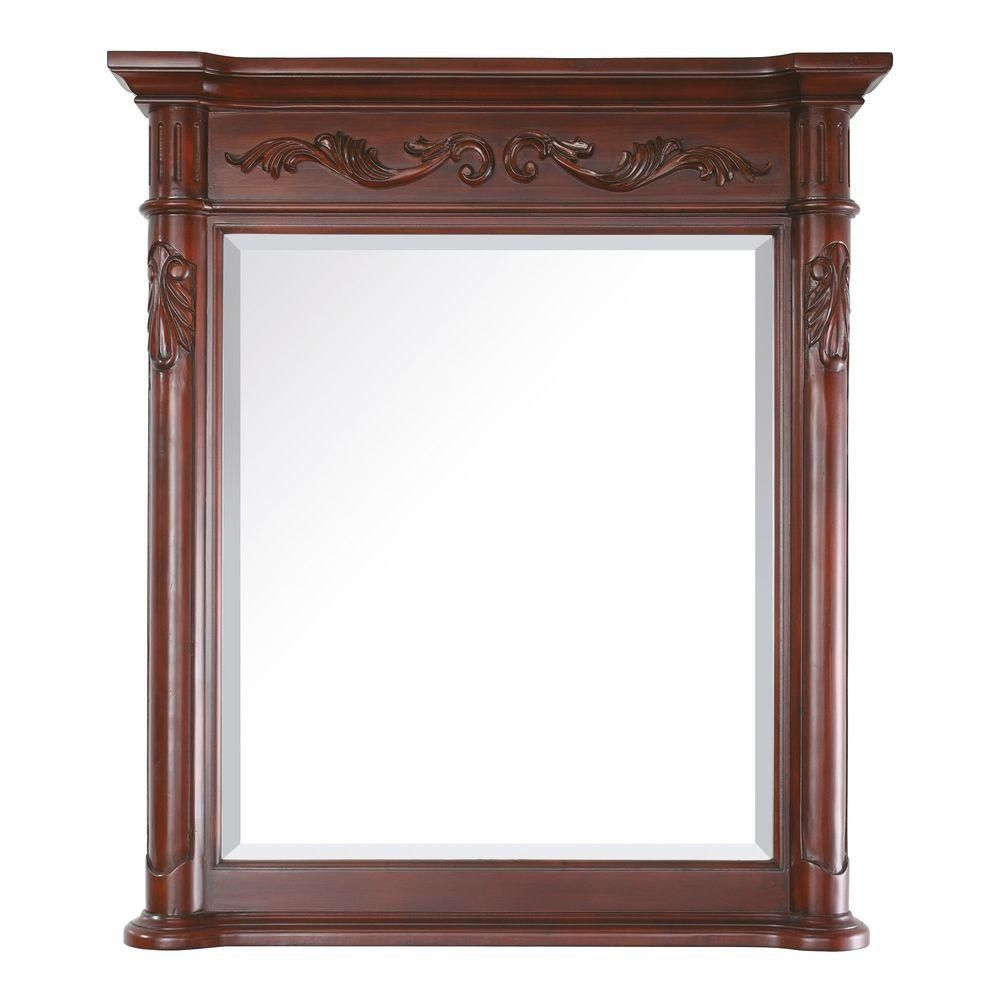 Provence 30 Inch Mirror in Antique Cherry Finish