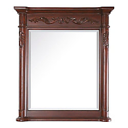 Avanity Provence 30 Inch Mirror in Antique Cherry Finish
