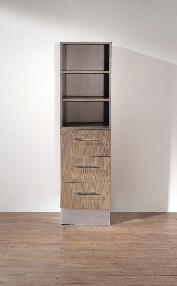 Dinara Linen Cabinet Smoked Ash DINARA TOWER S ASH Canada Discount