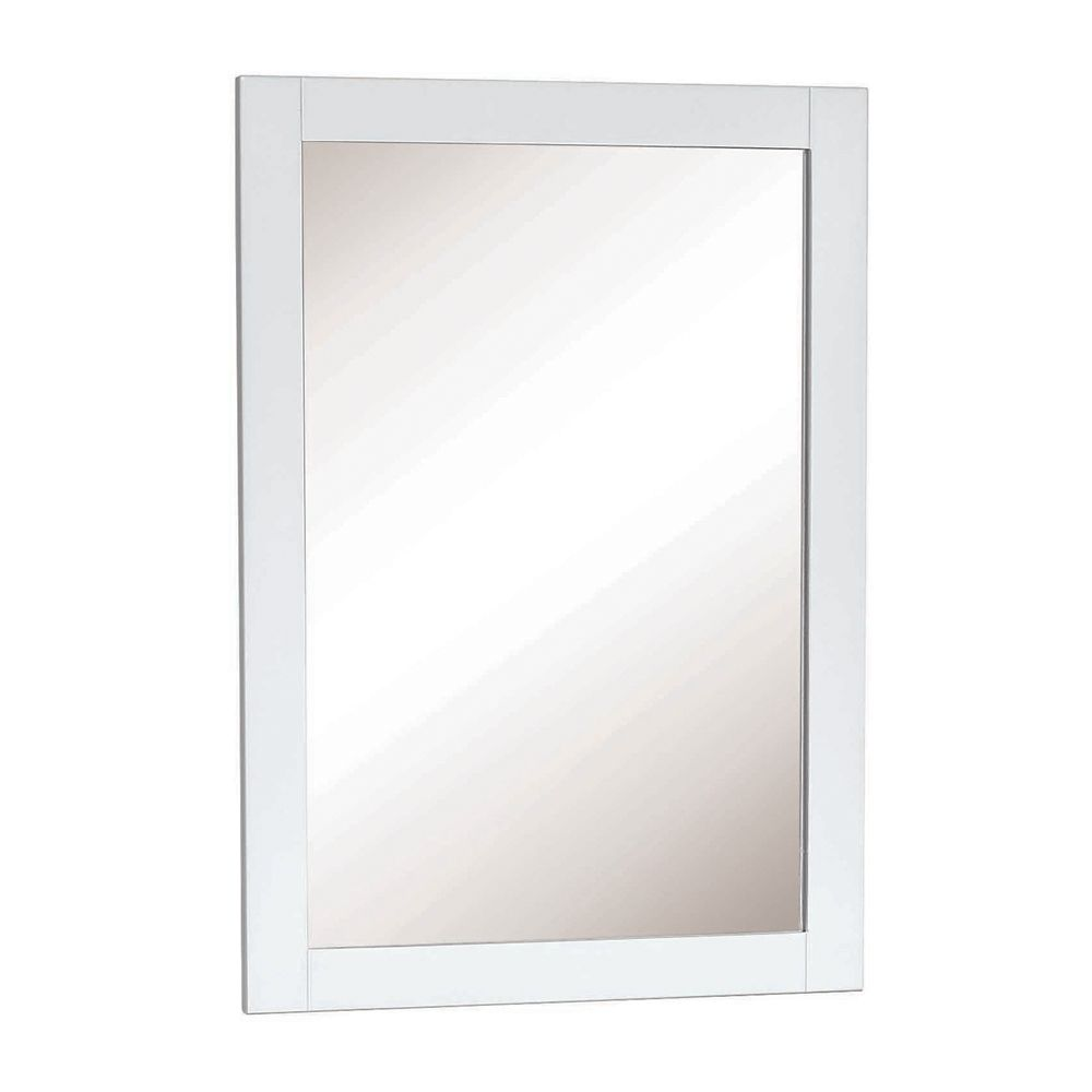 18 Inch White Framed Mirror