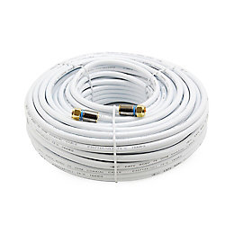 Commercial Electric 100 ft. RG-6 Coaxial Cable - White