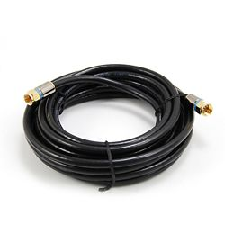 Commercial Electric 15 Feet  BLACK RG6 COAXIAL CABLE