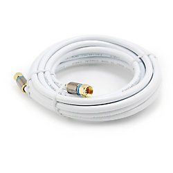 Commercial Electric CÂBLE COAXIAL RG-6 DE 4,57 M BLANC
