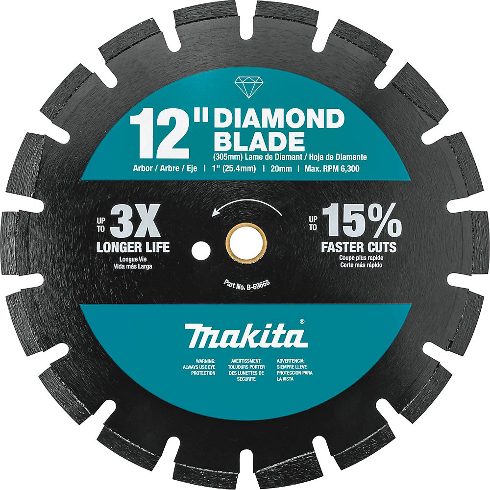 12-inch Segmented Dual Purpose Diamond Blade