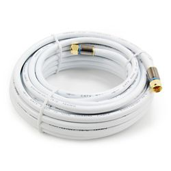 Commercial Electric 25 ft. RG6 Coaxial Cable in White