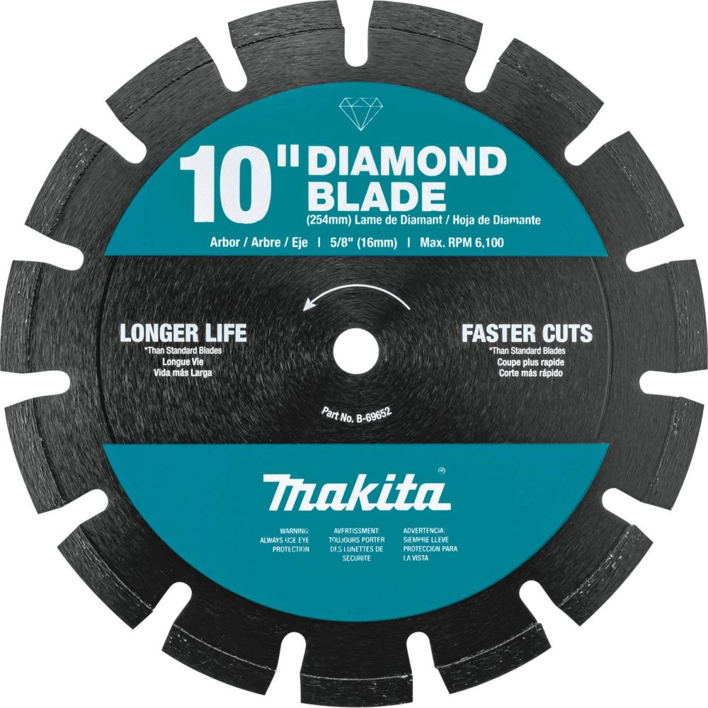 10-inch Segmented Dual Purpose Diamond Blade