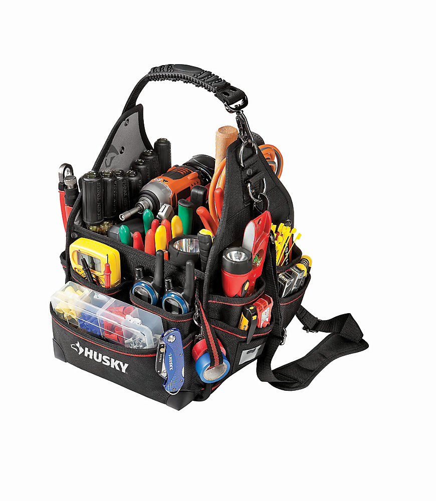 10-inch Electrician Bag with Driver Wall