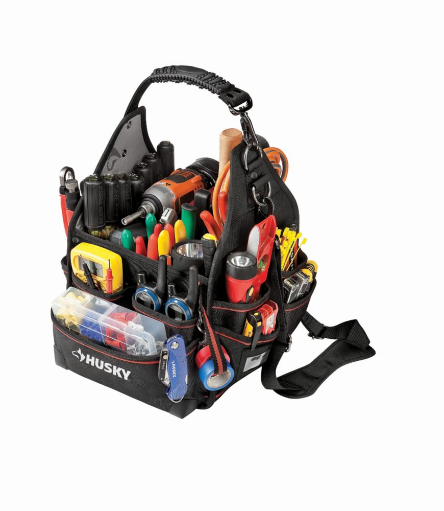 HUSKY 10-inch Electrician Bag with Driver Wall