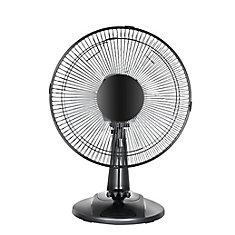 12-inch Table Fan in White