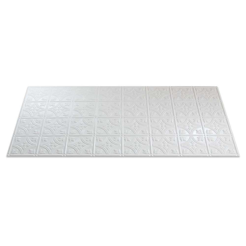 Traditional 1 Paintable White Ceiling Tile - 2x4