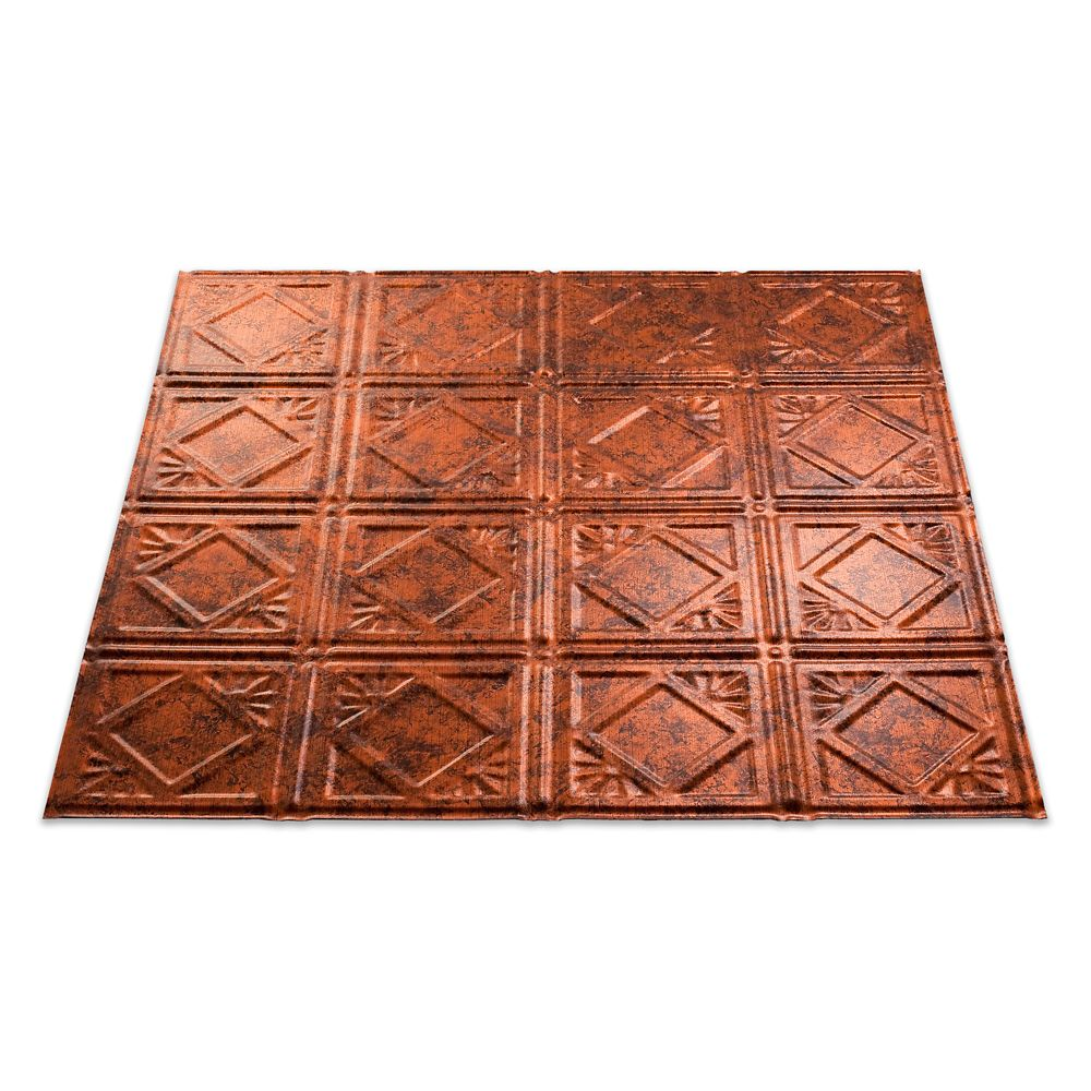 Traditional 4 Moonstone Copper Ceiling Tile - 2x2