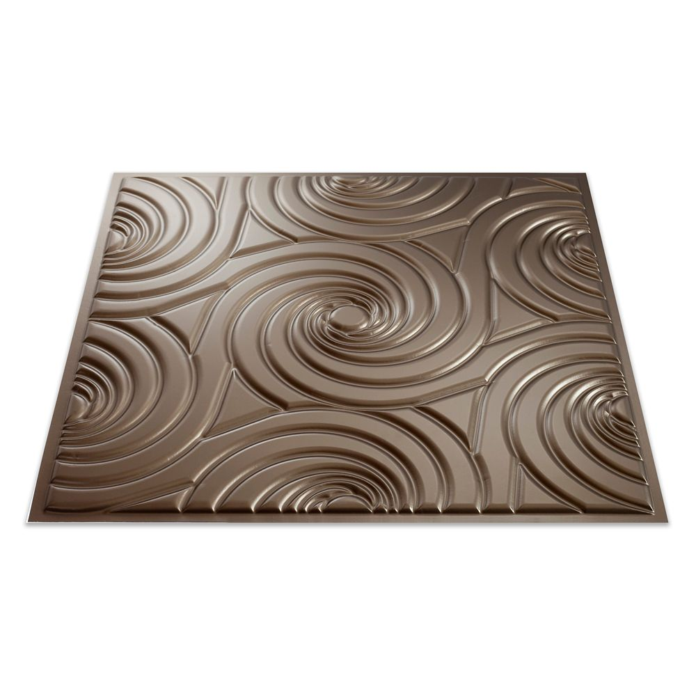 Typhoon Argent Bronze Ceiling Tile - 2x2