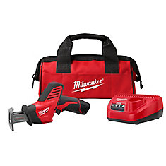 M12 12-Volt Lithium-Ion HACKZALL Cordless Reciprocating Saw W/ (1) 1.5Ah Battery, Charger & Tool Bag